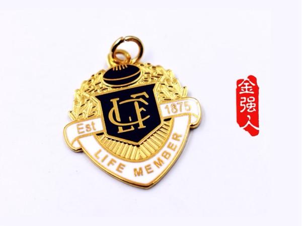 免费设计_定制_EST.1875终身会员金属徽章样版