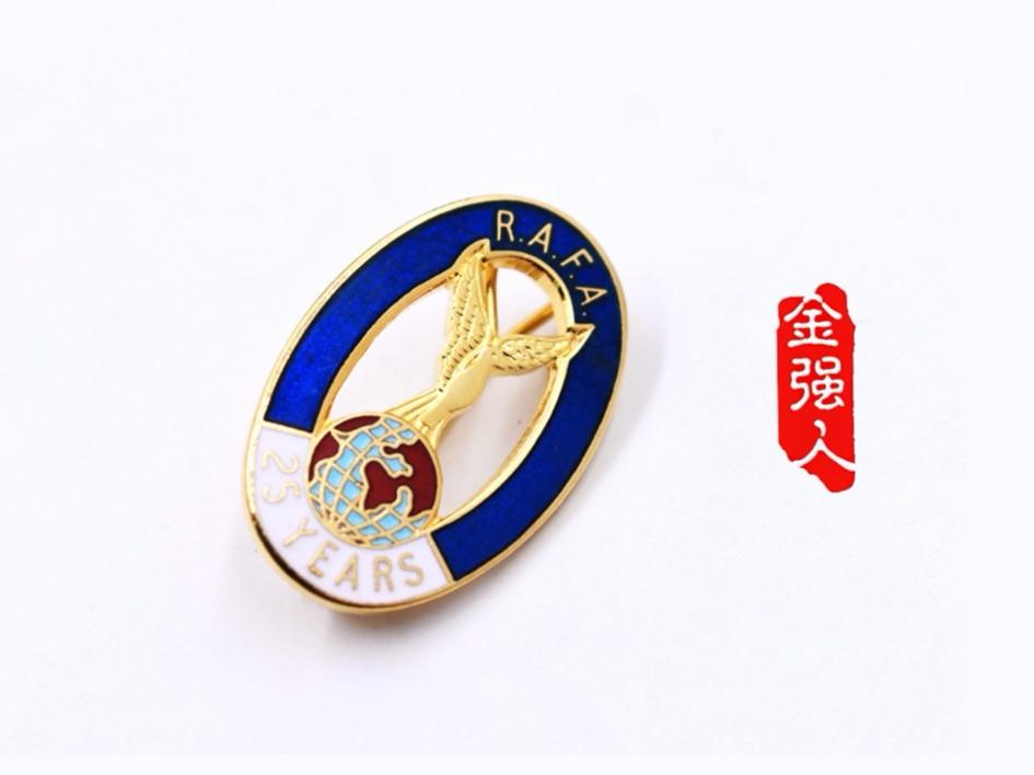 免费设计_定制_RAFA25周年纪念金属徽章样版