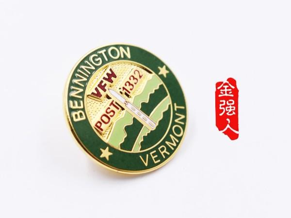 免费设计_定制_佛蒙特州本宁顿POST1332金属徽章样版