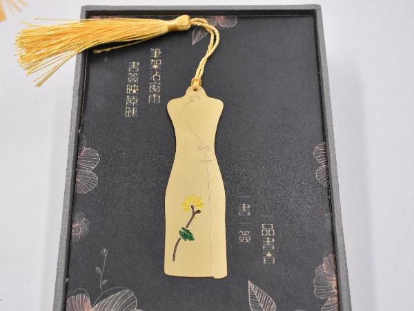 免费设计_定制_梅兰竹菊(二)金属套装书签样版