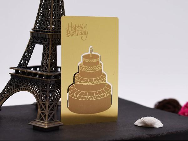 免费设计_定制_不锈钢电镀金色创意VIP卡样版