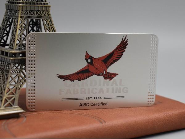 不锈钢本色镂空印刷贵宾卡定制