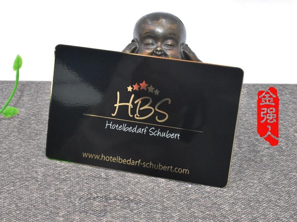免费设计_定制_HBS镀金雅黑磨砂镜面金属名片卡样版