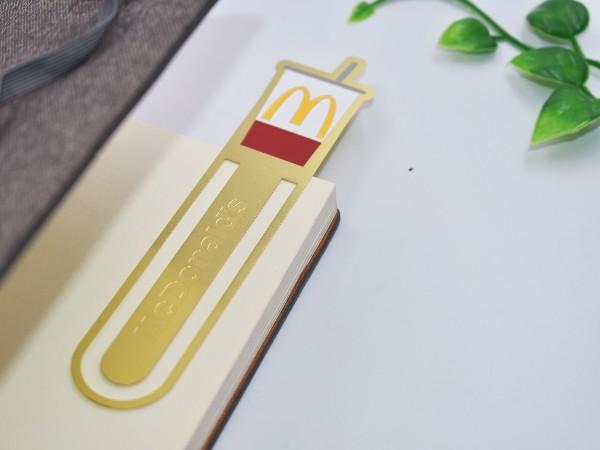 免费设计_定制_麦当劳创意金属书签样版