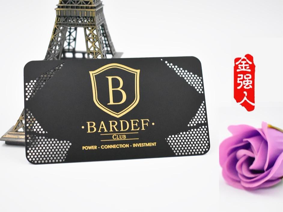 免费设计_定制_BarDef大气黑金镂空金属会员卡样版