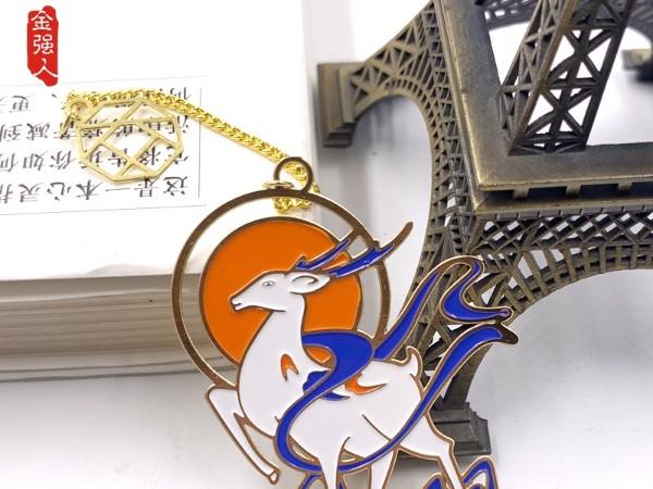 预售赠品为深圳金强人生产的金属书签