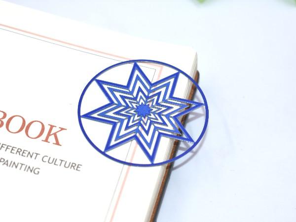 免费设计_定制_八角形金属书签样版