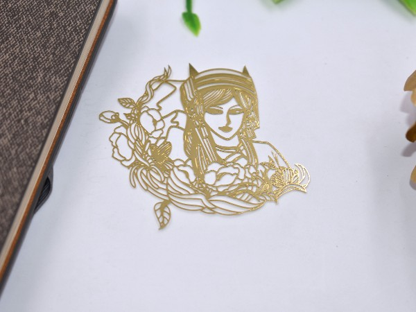 免费设计_定制_美人鱼金属书签样版
