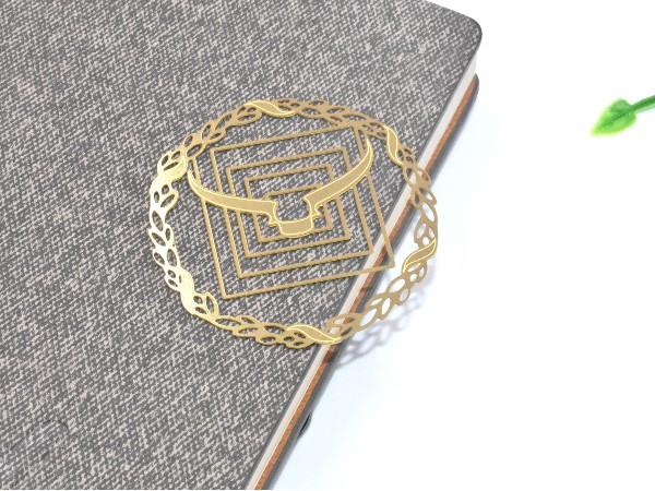 免费设计_定制_个性牛角金属书签样版