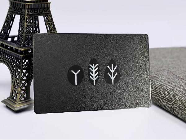 不锈钢黑色底纹贵宾卡定制