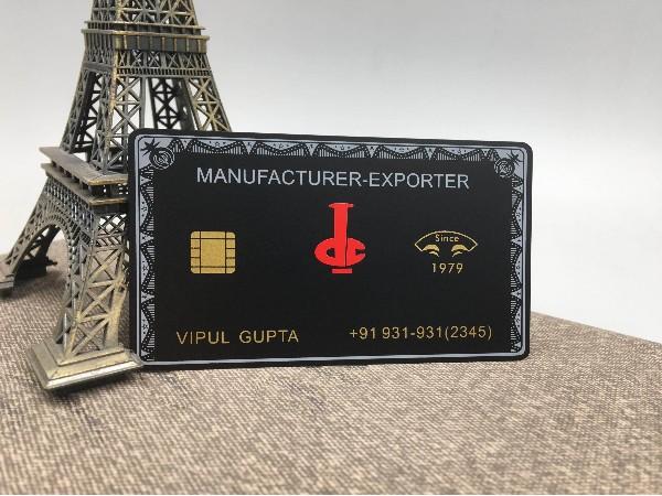 免费设计_定制_不锈钢电黑创意芯片卡样版