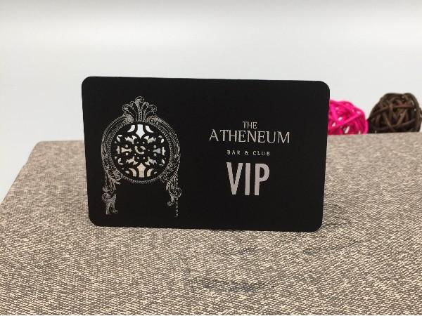 免费设计_定制_不锈钢电黑创意VIP卡样版
