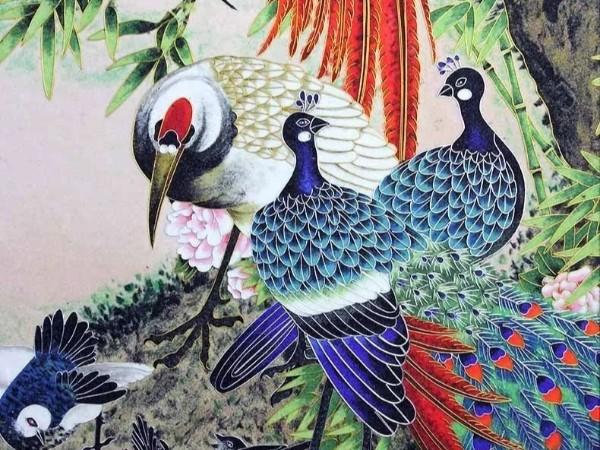 金丝勾勒出来的景泰蓝—掐丝珐琅画