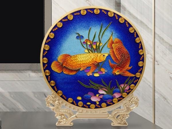景泰蓝如鱼得水艺术摆件