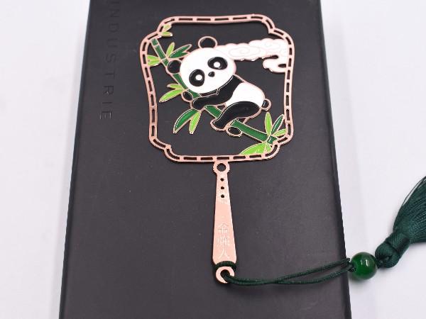 免费设计_定制_熊猫金属书签样版
