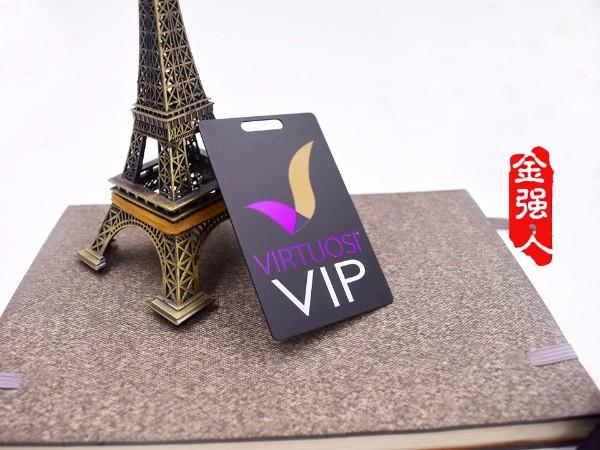 免费设计_定制_VIRTUOSI简约磨砂紫黑金属VIP卡样版