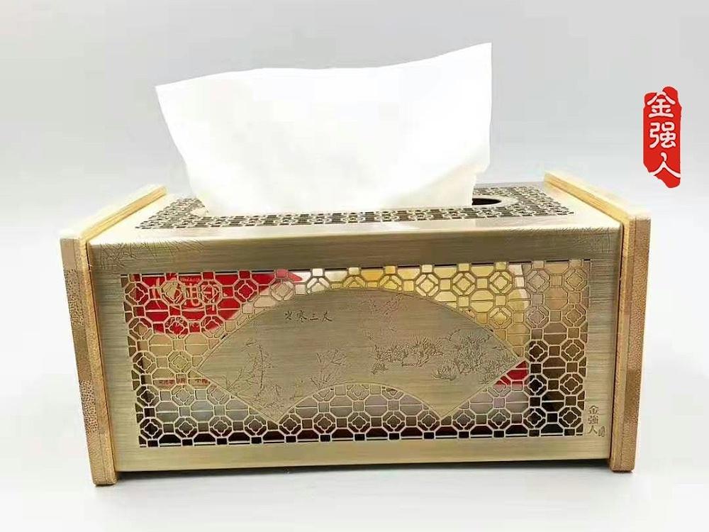 金属纸巾盒中国风高档纸巾盒男士朋友们的首选