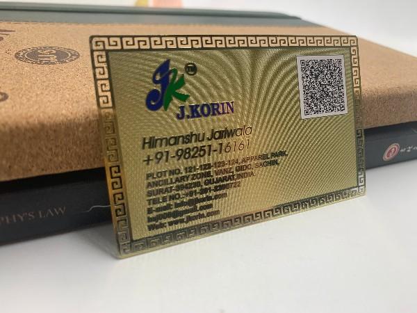 金属名片批发价格和哪些因素密不可分?