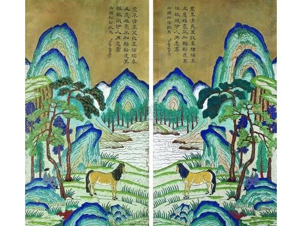 掐丝珐琅画-历史长河中的亮光