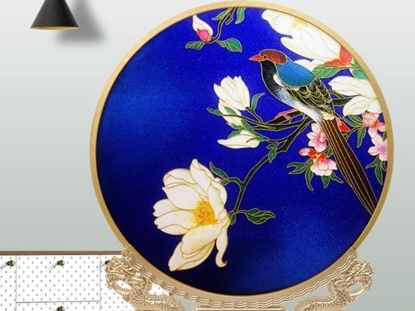 鸟语花香景泰蓝艺术摆件